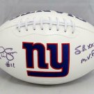 Phil Simms Autographed Signed New York Giants Logo Football JSA