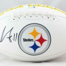 Chase Claypool Autographed Signed Pittsburgh Steelers Logo Football BECKETT