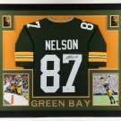 Jordy Nelson Autographed Signed Framed Green Bay Packers Jersey BECKETT