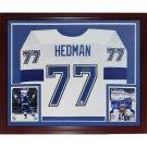 Victor Hedman Autographed Signed Framed Tampa Bay Lightning Jersey JSA
