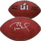 Tom Brady Autographed Signed Patriots SB 51 Football FANATICS