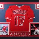 Shohei Ohtani Signed Autographed Framed Los Angeles Angels Nike Jersey FANATICS