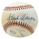 Hank Aaron & Sadaharu Oh Autographed Signed NL Baseball JSA