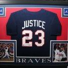 Dave Justice Autographed Signed Framed Atlanta Braves Jersey JSA