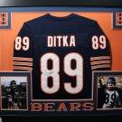Mike Ditka Autographed Signed Framed Chicago Bears Jersey JSA