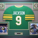 Reggie Jackson Autographed Signed Framed Oakland A's Jersey FANATICS
