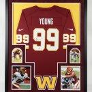 Chase Young Autographed Signed Washington Framed Jersey FANATICS