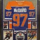 Connor McDavid Autographed Signed Framed Edmonton Oilers Jersey PSA