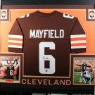 Baker Mayfield Signed Autographed Cleveland Browns Framed Jersey BECKETT