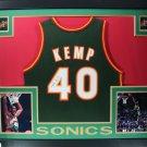 Shawn Kemp Signed Autographed Framed Seattle Supersonics Jersey JSA