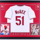 Willie McGee Autographed Signed Framed St. Louis Cardinals Jersey BECKETT