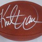 Kurt Warner Rams Cardinals Autographed Signed NFL Leather Football BECKETT