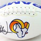 Kurt Warner Autographed Signed St. Louis Rams Logo Football BECKETT