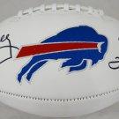 Kelly Reed & Thomas Autographed Signed Buffalo Bills Logo Football JSA