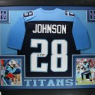 Chris Johnson Autographed Signed Framed Tennessee Titans Jersey JSA