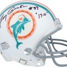 Larry Csonka Autographed Signed Miami Dolphins Mini Helmet FANATICS