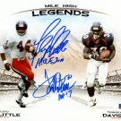 Terrell Davis & Floyd Little Autographed Signed 8x10 Broncos Photo BECKETT