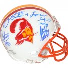 Sapp Selmon Brooks Lynch Signed Autographed Tampa Bay Buccaneers Mini Helmet BECKETT