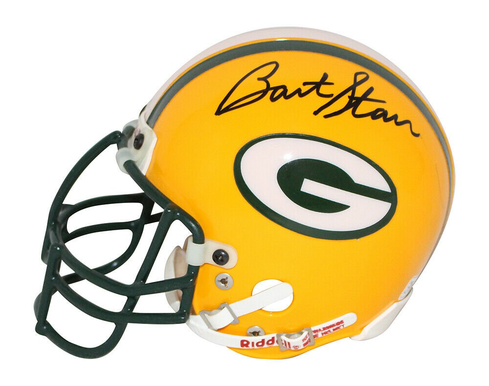 Bart Starr Ray Nitschke Autographed Signed Green Bay Packers Mini Helmet JSA