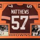 Clay Matthews Jr Signed Autographed Framed Cleveland Browns Jersey JSA