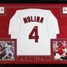Yadier Molina Autographed Signed Framed St. Louis Cardinals Majestic Jersey JSA