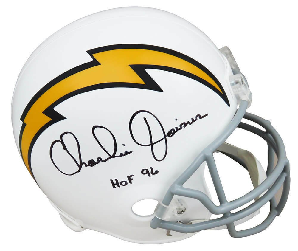 Charlie Joiner Signed Autographed San Diego Chargers FS Helmet SCHWARTZ