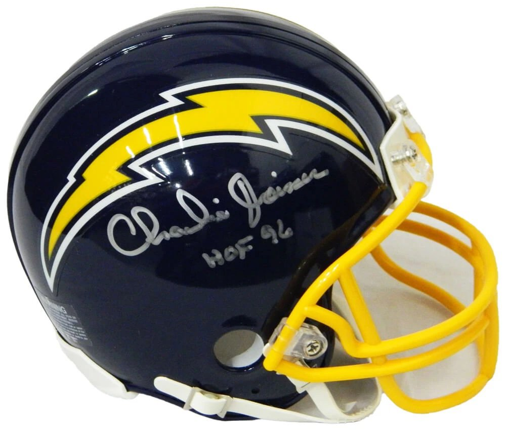 Charlie Joiner Signed Autographed San Diego Chargers Mini Helmet SCHWARTZ