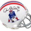 Jim Plunkett Signed Autographed New England Patriots Mini Helmet SCHWARTZ