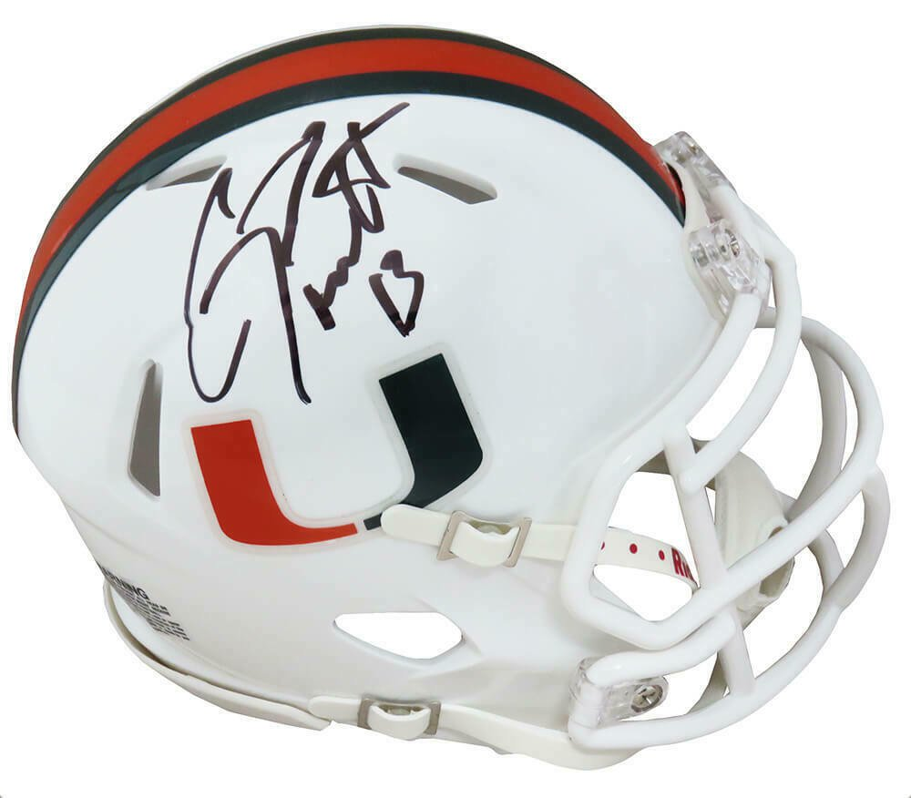 Gino Torretta Signed Autographed Miami Hurricanes Mini Helmet SCHWARTZ