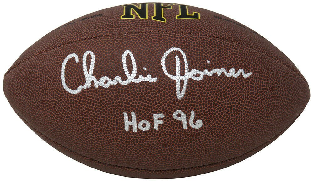 Charlie Joiner Chargers Bengals Signed Autographed NFL Football SCHWARTZ
