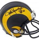 Jack Youngblood Signed Autographed Los Angeles Rams Mini Helmet SCHWARTZ