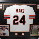 Willie Mays Signed Autographed Framed San Francisco Giants Majestic Jersey JSA