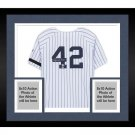 Mariano Rivera Signed Autographed Framed New York Yankees Majestic Jersey BECKETT