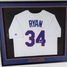 Nolan Ryan Signed Autographed Framed Texas Rangers Jersey BECKETT