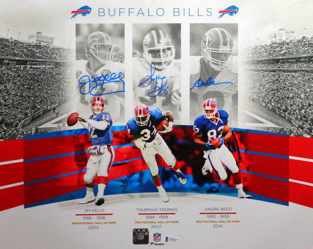 Kelly Reed & Thomas Autographed Signed 16x20 Bills Photo BECKETT