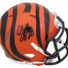 Corey Dillon Signed Autographed Cincinnati Bengals Mini Helmet SCHWARTZ