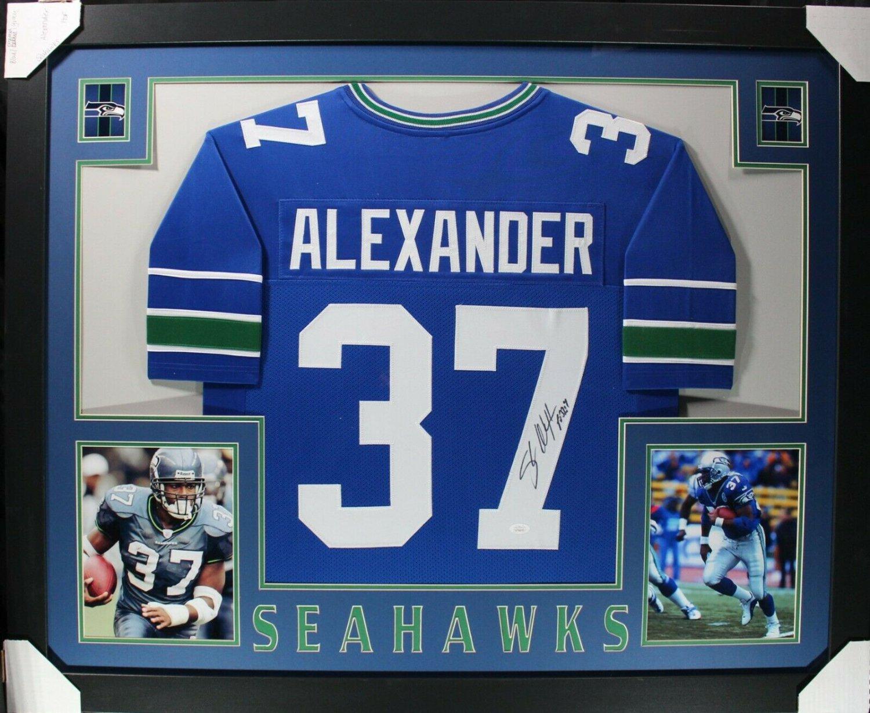 Shaun Alexander Autographed Signed Seattle Seahawks Framed Jersey JSA