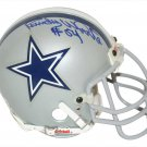 Randy White & Tony Dorsett Autographed Signed Dallas Cowboys TK Mini Helmet BECKETT