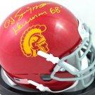 O. J. Simpson Autographed Signed USC Trojans Mini Helmet JSA