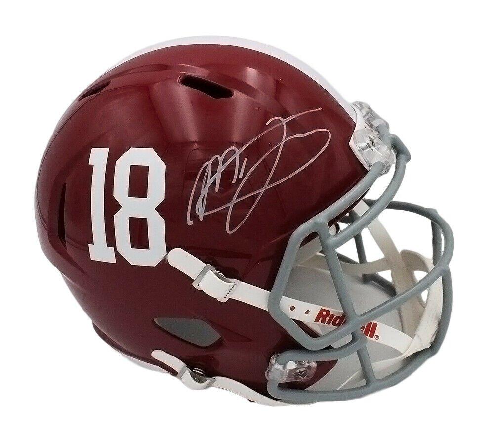 Mac Jones Autographed Signed Alabama Crimson Tide FS Proline Helmet BECKETT