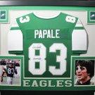 Vince Papale Autographed Signed Framed Philadelphia Eagles Jersey JSA