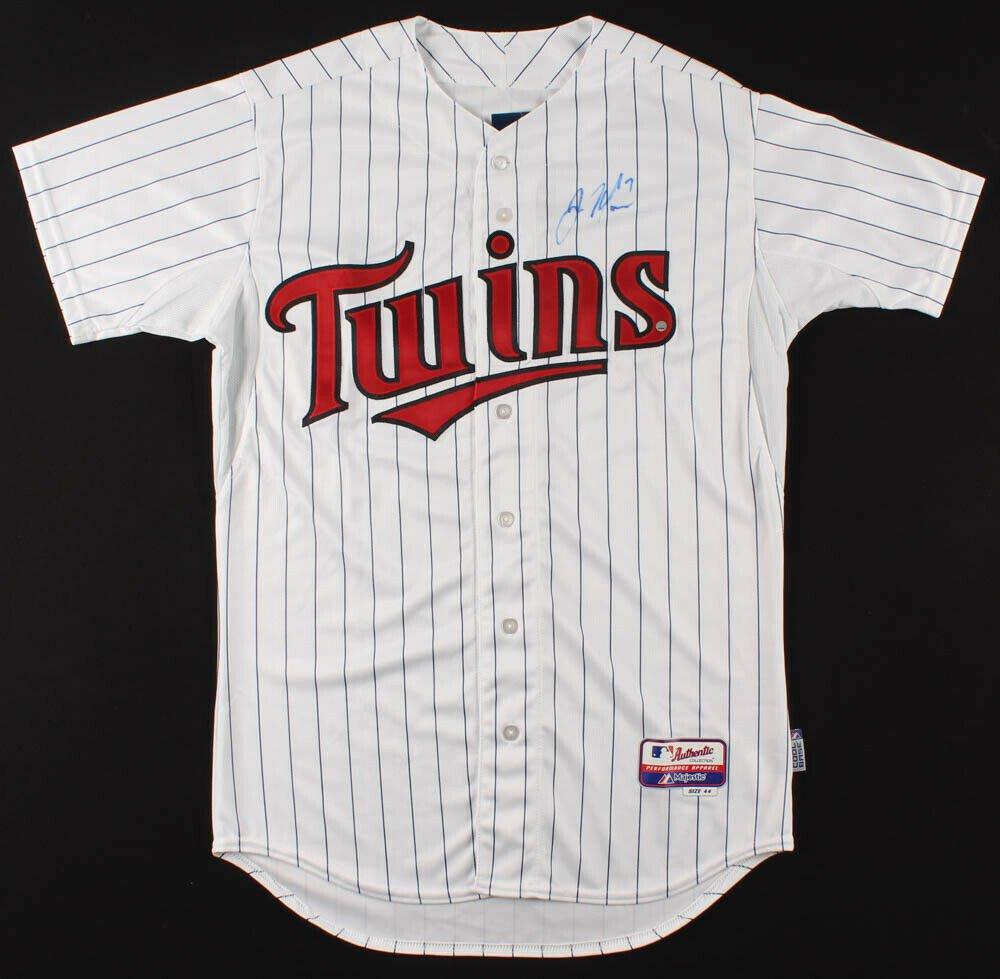 Joe Mauer Signed Autographed Minnesota Twins Majestic Jersey STEINER