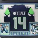 DK Metcalf Signed Autographed Framed Seattle Seahawks Jersey JSA