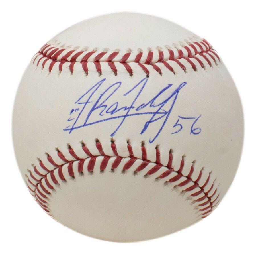 Randy Arozarena Tampa Bay Devil Rays Autographed Signed MLB Baseball JSA