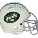 Don Maynard Autographed Signed New York Jets Mini Helmet BECKETT