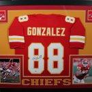Tony Gonzalez Signed Autographed Kansas Chiefs Framed Jersey BECKETT
