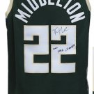 Khris Middleton Signed Autographed Milwaukee Bucks Nike Jersey SCHWARTZ