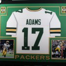 Davante Adams Signed Autographed Green Bay Packers Framed Jersey JSA