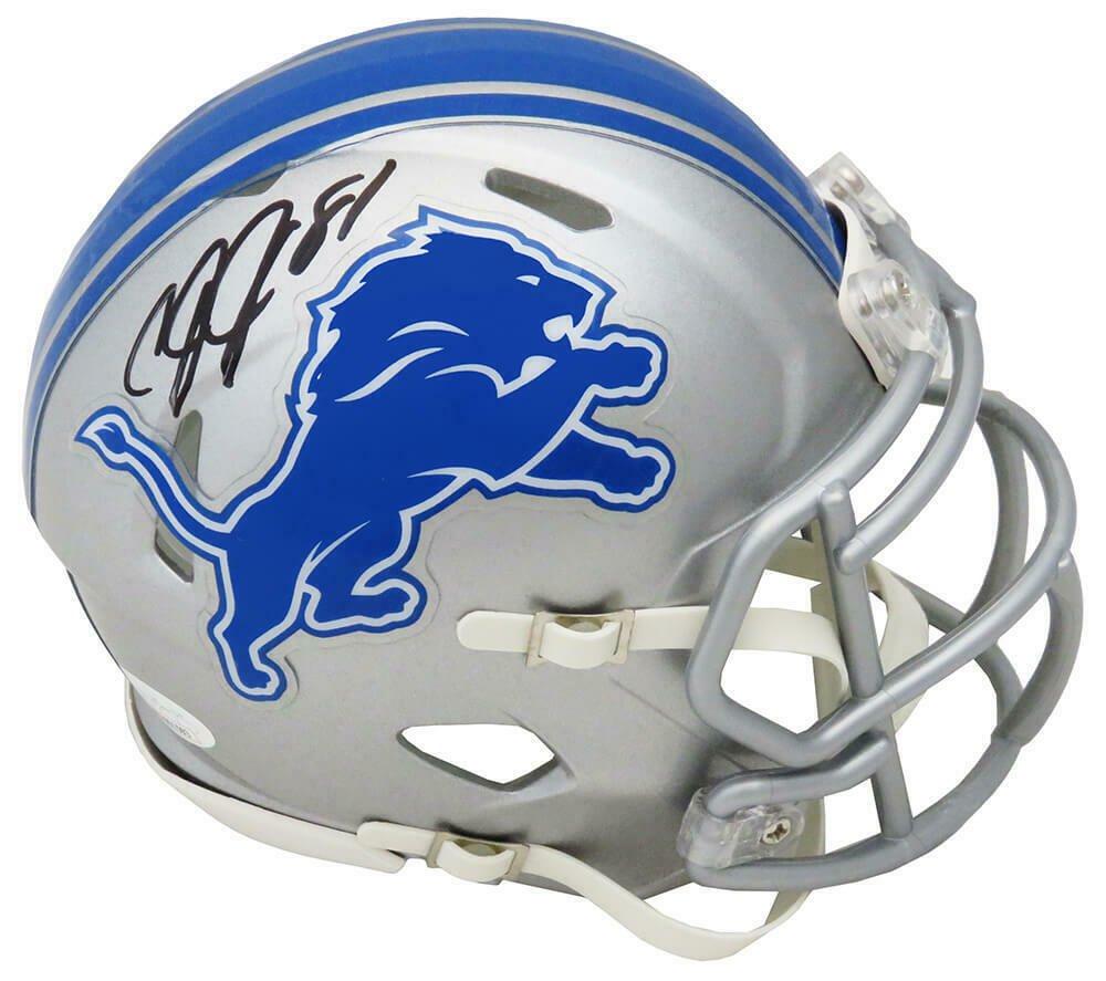 Calvin Johnson Autographed Signed Detroit Lions Mini Helmet JSA