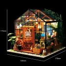 DIY Miniature Greenhouse Dollhouse LED Light Set